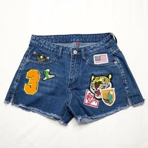 Topshop Shorts Jean Denim High Wasted (M20)